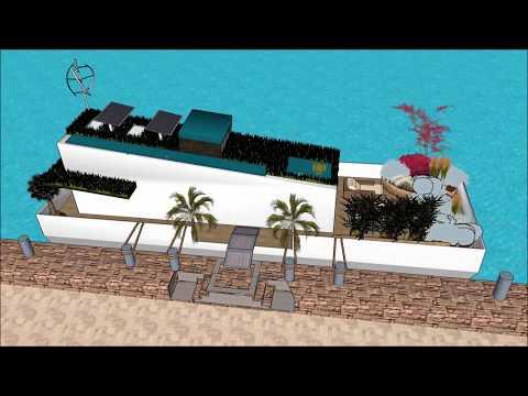 Houseboat বাসযোগ্য বজরা floating house ভাসমান ঘর ভিলা Yacht 360 Architect Barge in BANGLADESH MALAYS