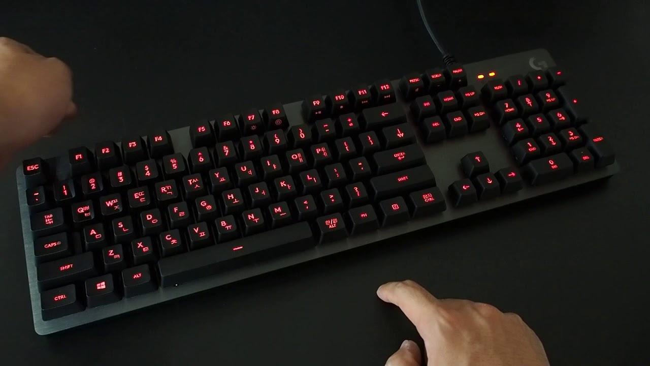 Team Hobbyist] - Logitech G413(KOR) CARBON LED Effects - YouTube