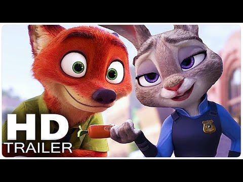ZOOTOPIA All Trailer | Disney Movie 2016