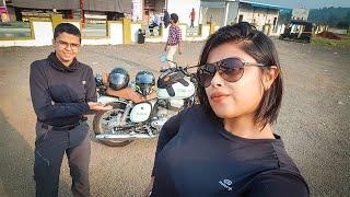 Ride to Parsi Dairy Farm (Dairyland) on Jawa 42 | Vlog #8 | Female rider
