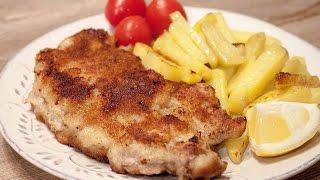 Венский шницель из свинины Schnitzel Wiener Art #венскийшницель #свинойшницель