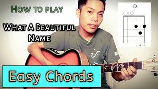 What a Beautiful Name - Hillsong | Guitar Tutorial