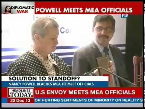 Nancy Powell reaches MEA to meet officials