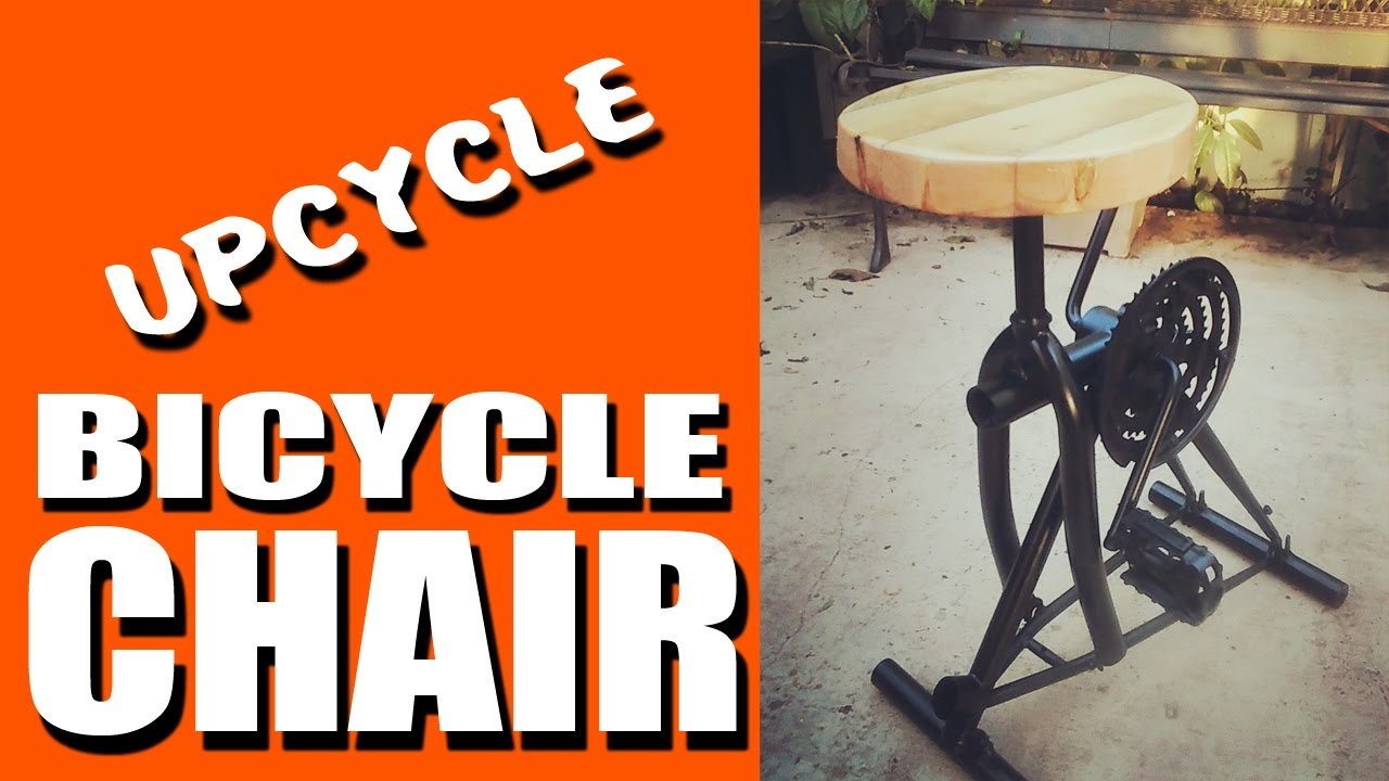 Bicycle Chair seat stool reclaimed materials  sc 1 st  YouTube : bicycle seat stool - islam-shia.org