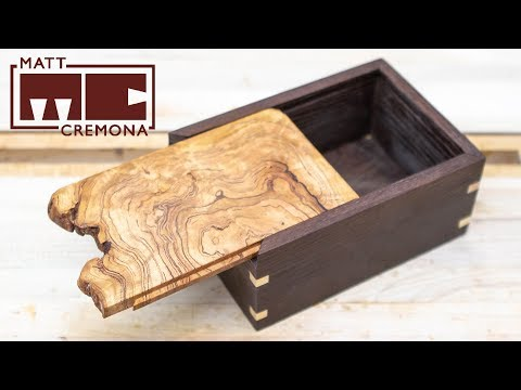 Sliding Burl Lid Box | Woodworking