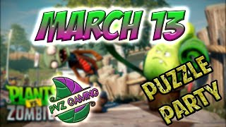 PvZ Heroes: Daily Challenge 03/13/2019 March 13 - Puzzle Party [March 13th]