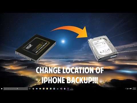 How to backup iphone 7 to external hard drive windows 10
