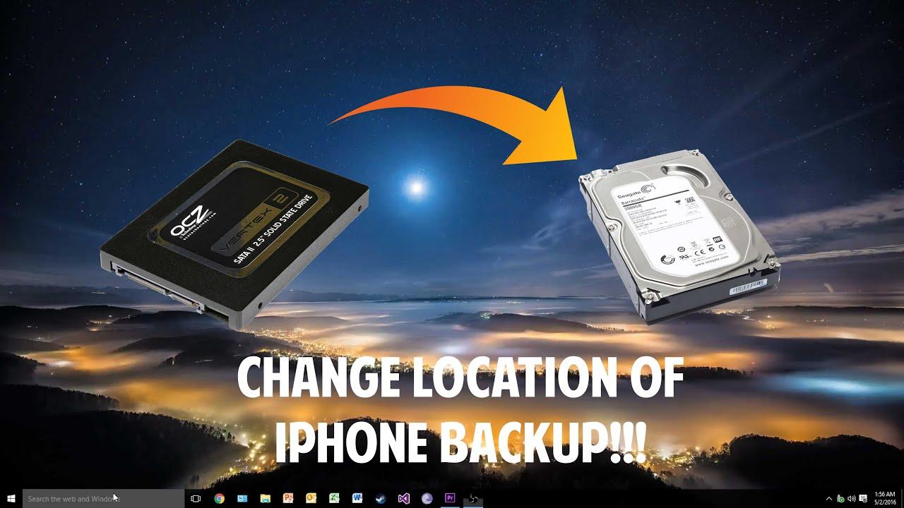 change itunes backup location windows 10 powershell