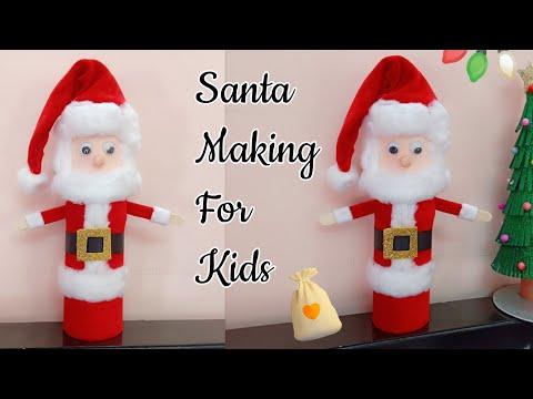 Santa Claus/How to make Christmas Santa Claus at home/Santa Claus Making for Kids/Christmas Decor