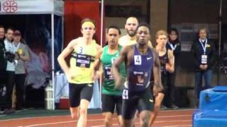 600m indoor world record attempt - Luguelin Santos Olympian medalist in Montreal - National record