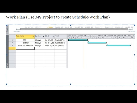 Work Plan Using Ms Excel  Youtube