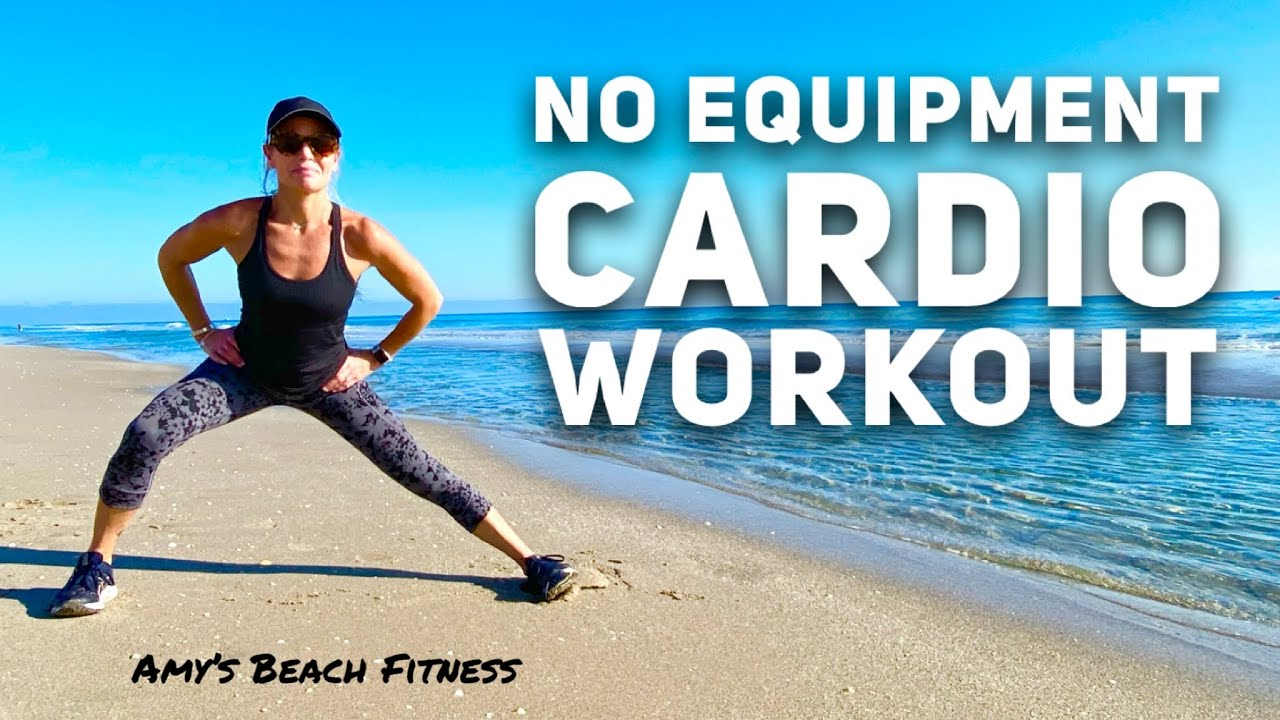 No Equipment Cardio Workout at the Beach!