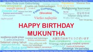 Mukuntha   Languages Idiomas - Happy Birthday