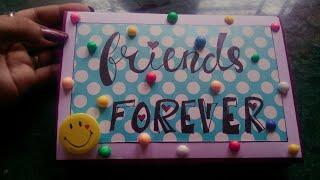 Friends forever greeting card, Cute n colourful  Folding card..