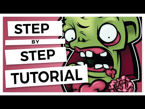 Adobe Illustrator Coloring a Cartoon Tutorial using Live Paint