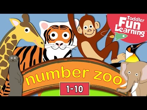 Learn to count 1 to 10 with Number Zoo | Toddler Fun Learning