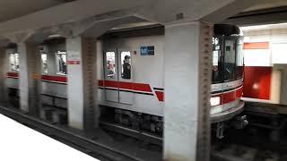 なんとなく電車:東京メトロ中野富士見町駅:丸ノ内線方南町行き3輌編成&中野坂上行き3輌編成発車光景20210612_175743