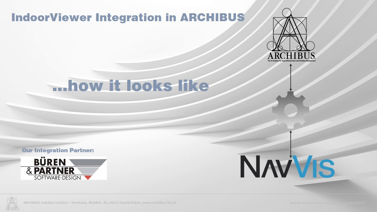 Archibus - Integration of NavVis Indoor Viewer OVERVIEW in english