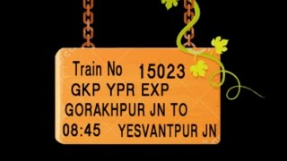 Train No 15023 Train Name GKPYPR EXP GORAKHPUR MANKAPUR  AYODHYA FAIZABAD  LUCKNOWNE