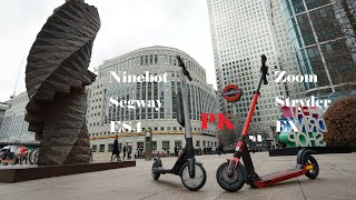 Which one is the King?! Comparison & Review of Ninebot Segway ES4 and Zoom Stryder EX Elec-Scooter