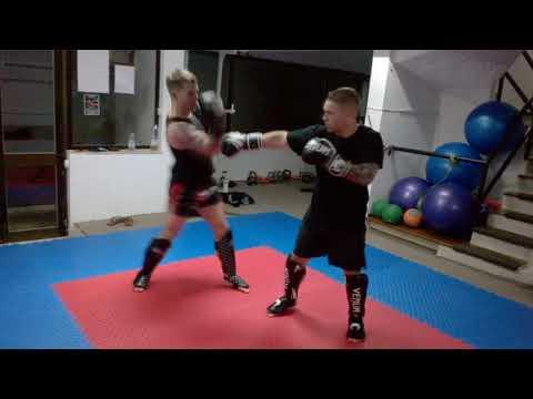 Boxing Footwork Drill: Step-Pivot Left  Right Uppercut  Left Hook Right Uppercut