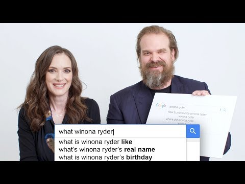 Gavin - Stranger Things' Winona Ryder & David Harbour Answer the Web Questions