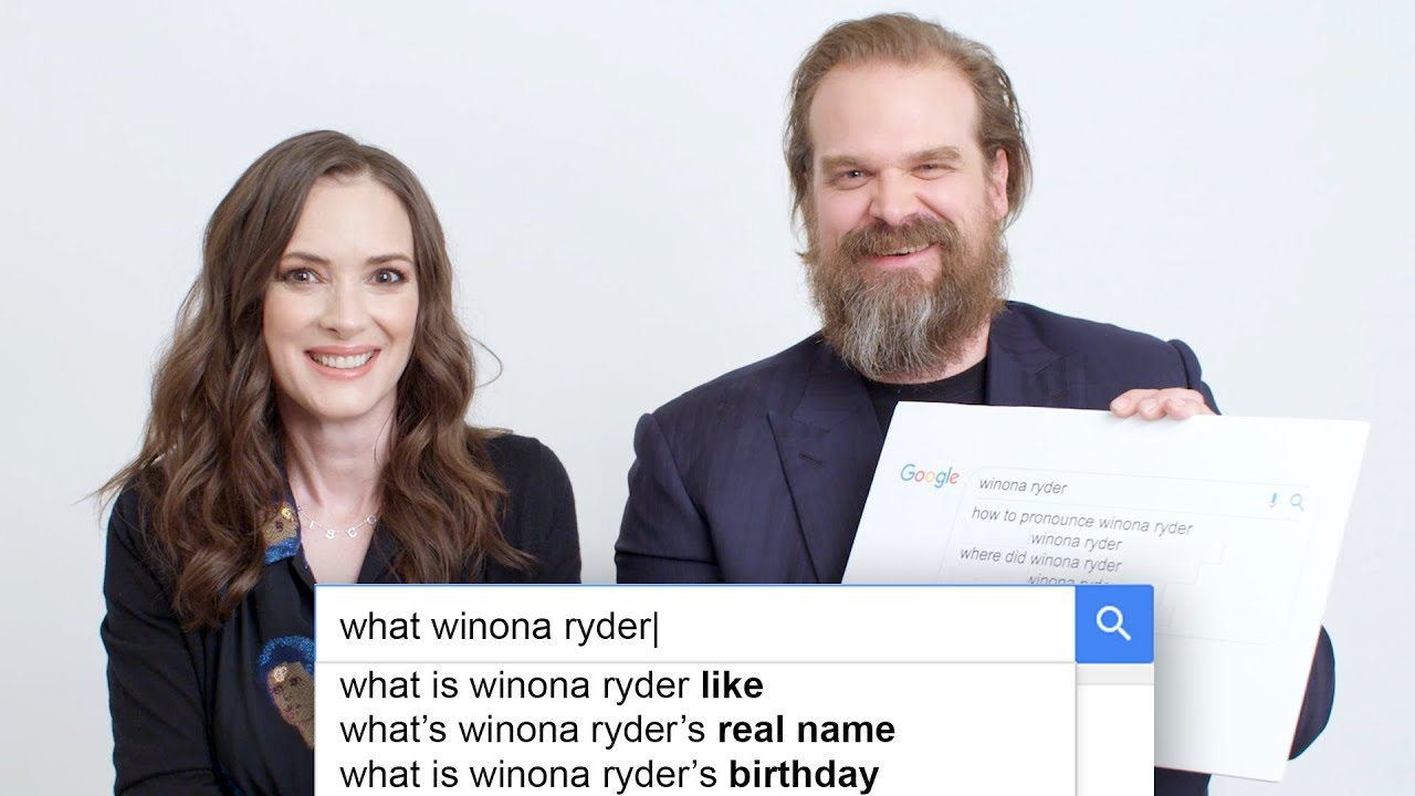 Stranger Things' Winona Ryder & David Harbour Answer the Web's Most Searched Questions