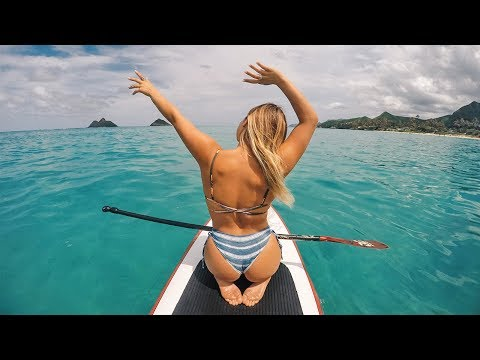 HAWAII: PADDLE BOARDING IN LANIKAI BEACH!!