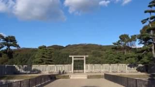 仁徳天皇陵 堺市 紅葉.