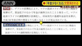「年金少なくなる」の文言削除 麻生大臣を直撃(19/06/20)