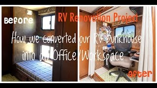 Diy Rv Renovation: How We Converted Our Bunkhouse Into An Office/workspace For Under $200