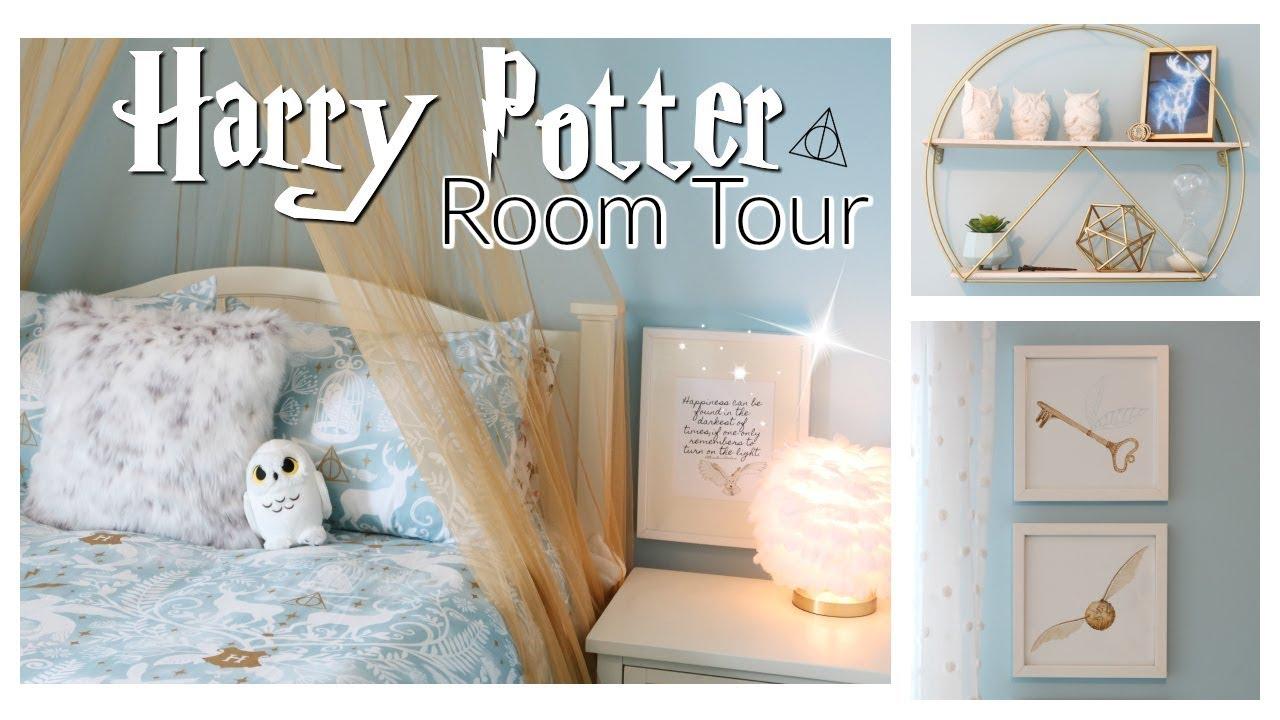 Harry Potter Bedroom Reveal Tour Teen Bedroom Makeover Harry Potter Bedroom Dorm Room Decor Youtube