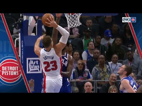 Blake Griffin Poster Dunk on Joel Embiid | Pistons vs 76ers | October 23, 2018 | 2018-19 NBA Season