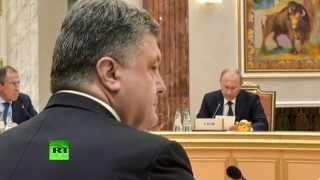 Владимир Путин и Петр Порошенко провели переговоры в Минске