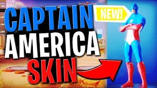 How To Get *NEW* CAPTAIN AMERICA SKIN In Fortnite FOR FREE... (IN-GAME)