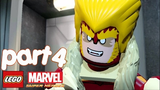 LEGO Marvel Super Heroes Walkthrough gameplay Part 4 - Abomination (Rock up at the Lock up)