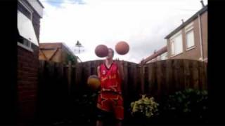 andy one basketball juggling