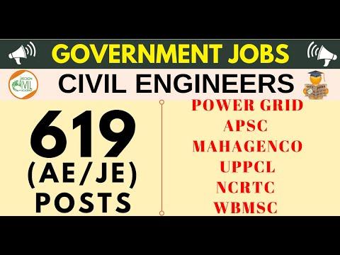 GOVERNMENT JOBS CIVIL ENGINEERS 619 POSTS