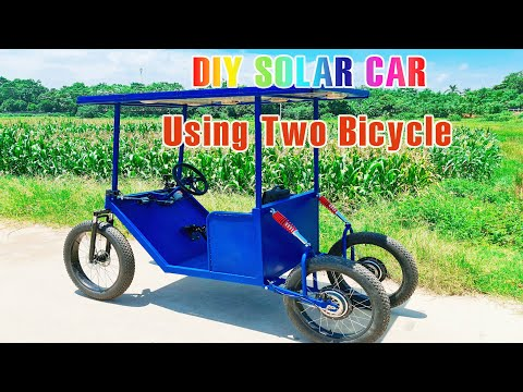 Build A Electric Solar Car with Two Bicycle