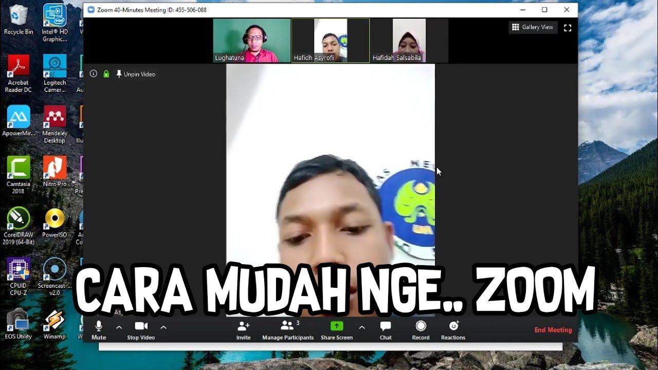 Cara Mudah Menggunakan Aplikasi Zoom Cloud Meeting Di Komputer Pc Laptop Youtube
