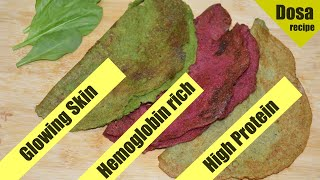 3 Healthy High Protein Dosa | No Rice | No Fermentation | Super Healthy Diet recipe | Health Tuber