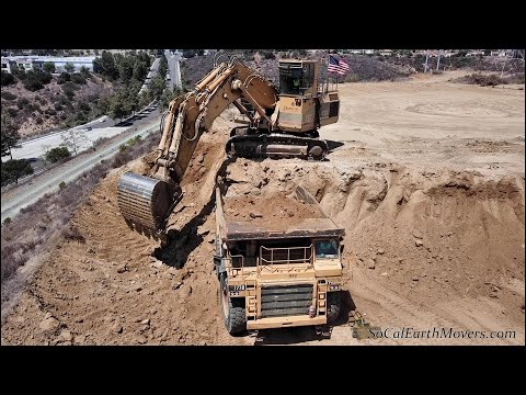 Earthmoving With A CAT 5130B Excavator