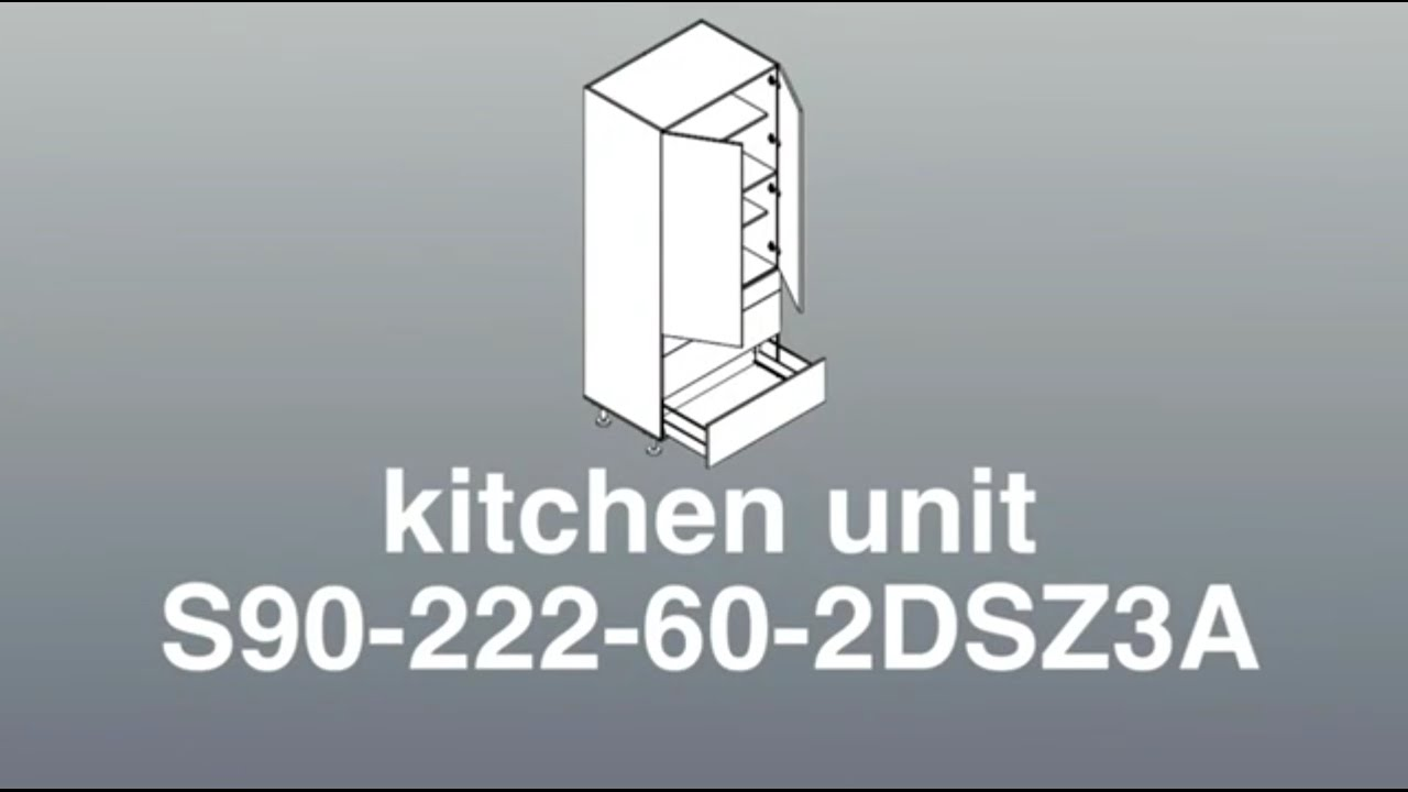 Assembly For 900mm Wide Pantry 2 Doors 3 Drawers Kitchen