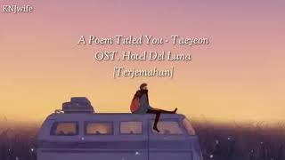 Lirik Lagu: A Poem Titled You - Taeyeon