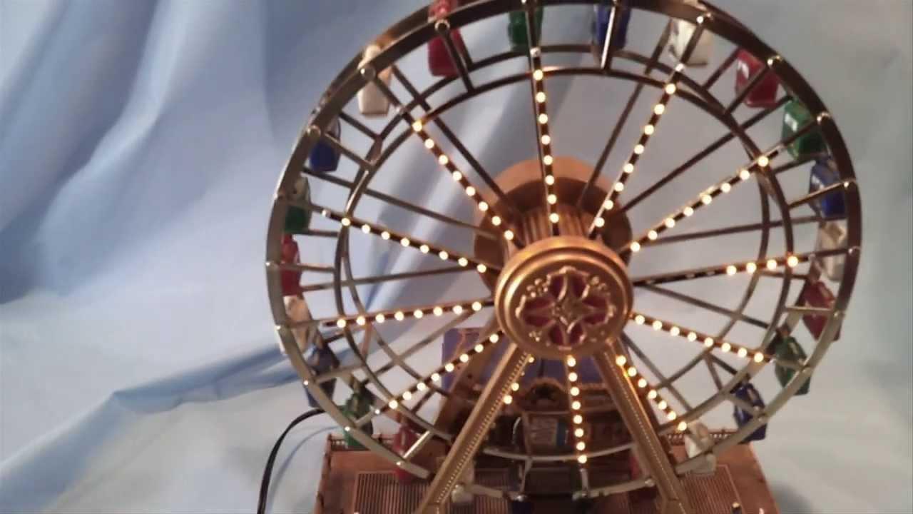 Christmas Ferris Wheel Music Box.Mr Christmas Gold Label World Fair Ferris Wheel Music Box 79826