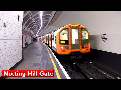 Notting Hill Gate | Central line : London Underground ( 1992 Tube Stock )