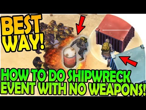 BEST WAY to do NEW SHIPWRECK EVENT - NO GUNS / WEAPONS! - Last Day On Earth Survival 1.6.7 Update