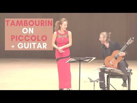 Gossec Tambourin - Jasmine Choi and Benjamin Beirs / 고세크 탬버린 piccolo flute guitar