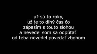 Kali - Púštam ťa (text - lyrics )