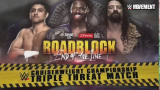 WWE Roadblock: End of the Line 2016 Triple Threat Match Official Match Card